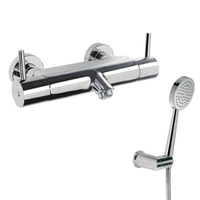 TRES Termostatická baterie pro vanu-sprchu Ruční sprcha (299.631.03) s nastavitelným držákem, p (09097401)