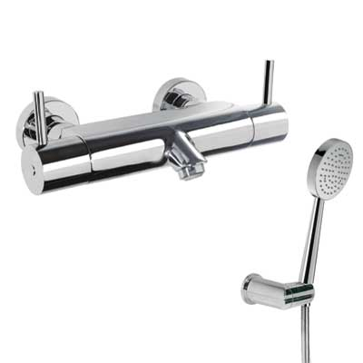 Termostatická baterie pro vanu-sprchu Ruční sprcha (299.631.03) s nastavitelným držákem, p (09097401) Tres