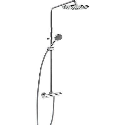 TRES Souprava termostatické sprchové baterie MAX · Pevná sprcha O 300 mm. s kloubem. Materiál m (06121001)