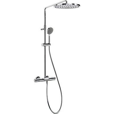 TRES Souprava termostatické baterie pro vanu-sprchu MAX · Pevná sprcha O 300 mm. s kloubem. Mat (06231201)