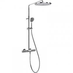 TRES - Souprava termostatické baterie pro vanu-sprchu (3-cestná) Pevná sprcha O300mm. s kloubem. Materiál mosaz. Ruční sp (06231201)