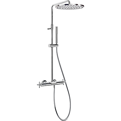 TRES Souprava termostatické baterie pro vanu-sprchu BIMAX · Pevná sprcha O 300 mm. s kloubem. M (06331201)