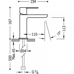 TRES - Jednopáková umyvadlová baterie (20010301), fotografie 2/2