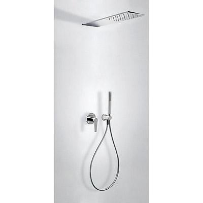 Podomítkový jednopákový sprchový set CLASS s uzávěrem a regulací průtoku.· Včetně podomít (20518003) Tres