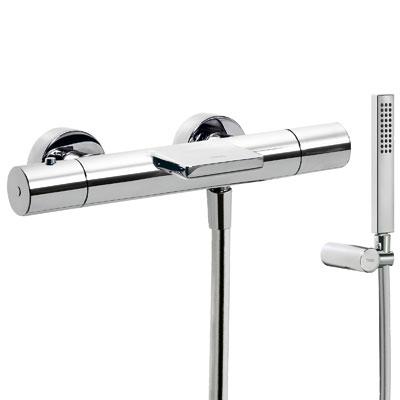 TRES Termostatická baterie pro vanu-sprchu CLASS s kaskádou (Ruční sprcha s nastavitelným držák (205174019)