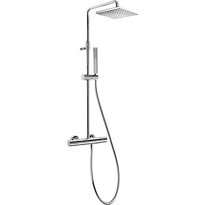 TRES Souprava termostatické sprchové baterie CLASS · Pevná sprcha 250x250 mm. s kloubem. (1.34. (20538501)