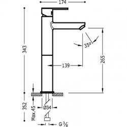 TRES - Jednopáková umyvadlová bateries nástavcem. Perlátor se snadnou údržbou. (181207), fotografie 2/3