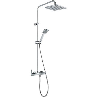 TRES Sprchová souprava, proti usaz. vod. kamene LEX · Pevná sprcha 200x200 mm. s kloubem. (299. (08119301)