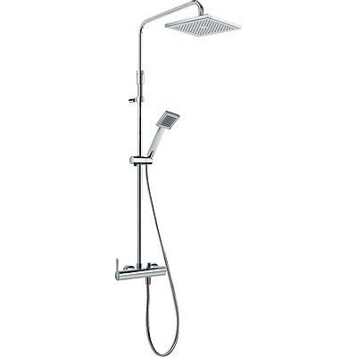 TRES Sprchová souprava, proti usaz. vod. kamene LEX · Pevná sprcha 200x200 mm. s kloubem. (299. (08119701)