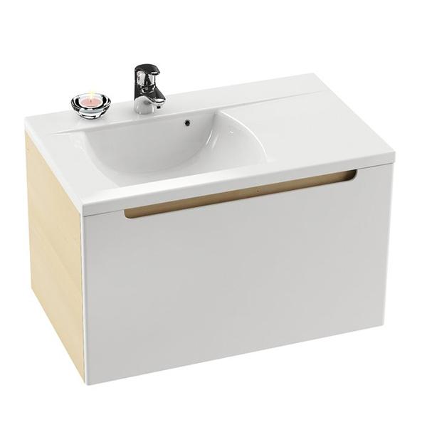 RAVAK Skříňka pod umyvadlo š. 80cm, č.429 dvířka bílá, korpus espresso SD 800 CLASSIC PRAVÁ (X000000429) (MK27420)