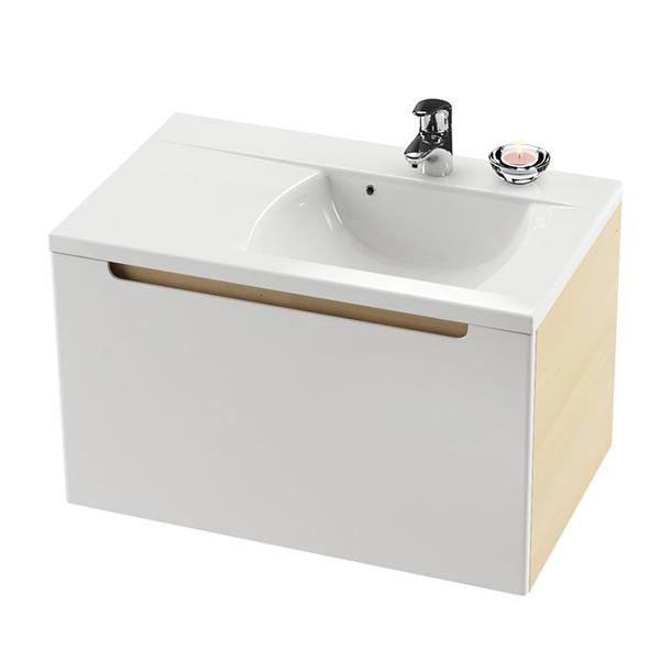 RAVAK Skříňka pod umyvadlo š. 80cm, č.428 dvířka bílá, korpus espresso SD 800 CLASSIC LEVÁ (X000000428) (MK27419)