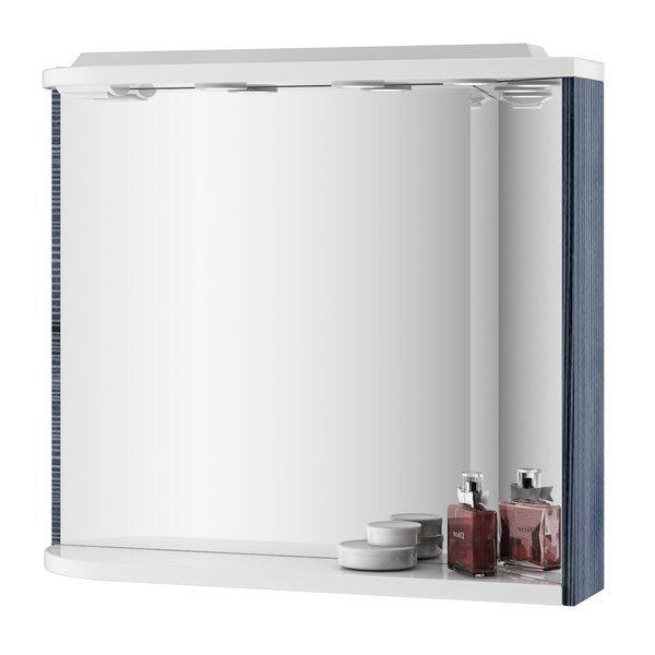 RAVAK Zrcadlo s osvětlením a poličkou š. 78cm, č.315 Strip Onyx/bílá M 780 ROSA PRAVÉ (X000000315) (MK38505)