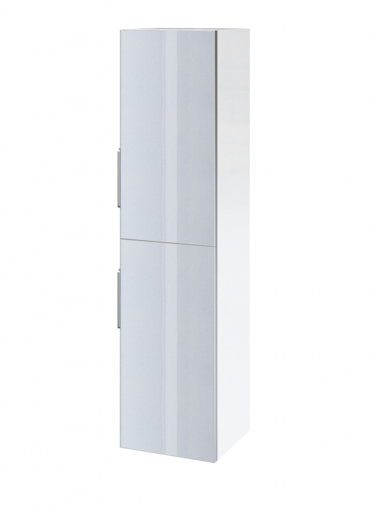 CERSANIT WALL HUNG PILLAR STILLO 140 UNIVERSAL WHITE/GREY FRONT MOUNT ( S575-001 )