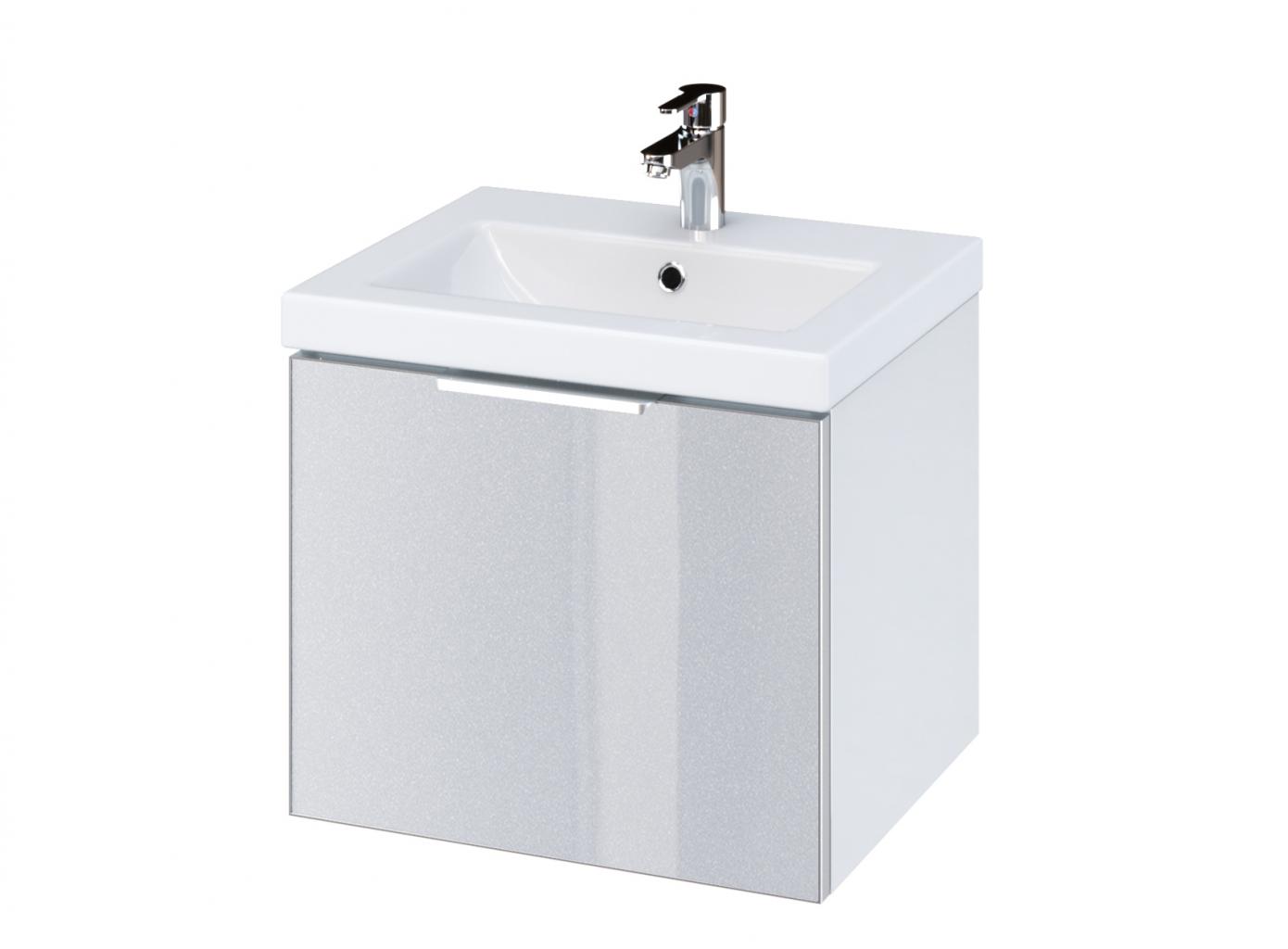 CERSANIT Skříňka STILLO pod umyvadlo COMO/ COLOUR 50, bílá/ šedá dvířka (S575-002)