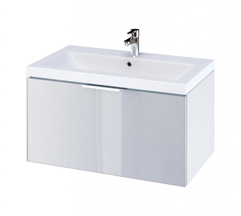 CERSANIT - Skříňka STILLO pod umyvadlo COMO/ ZURO/ AMAO 80 bílá / šedá dvířka (S575-004)