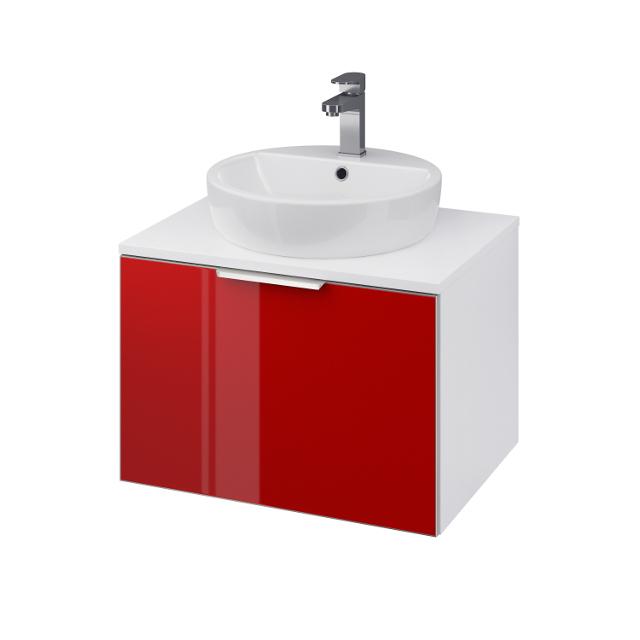 CERSANIT Skříňka STILLO pod umyvadlo INTEO/ CASPIA RING 60, bílá/ červená dvířka (S575-008)