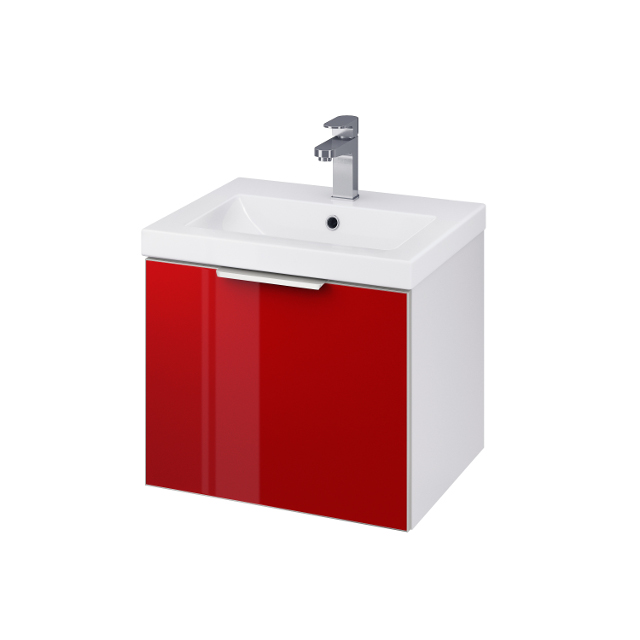 CERSANIT Skříňka STILLO pod umyvadlo COMO/ COLOUR 50 bílá/ červená dvířka (S575-009)
