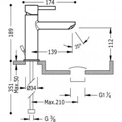 TRES - Jednopáková umyvadlová baterie (20320301D), fotografie 2/3
