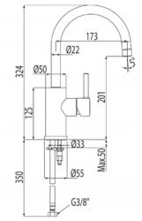TRES - Jednopáková umyvadlová baterie (20340301), fotografie 12/6