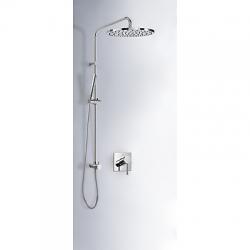 TRES - Sprchová sada podomítková MONO-TERM®s uzávěrem a regulací průtoku. Včetně podomítkového tělesa Pevná sprcha O300m (06218008)