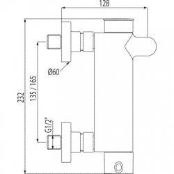 TRES - Jednopáková baterie pro vanu-sprchuRuční sprcha snastavitelným držákem, proti usaz.vod. kamene a flexi hadice SATIN. (20317001), fotografie 2/3