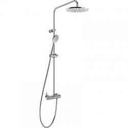 TRES - Sprchová souprava, proti usaz. vod. kamene ALPLUS Pevná sprcha O225mm. s kloubem. Ruční sprcha, proti usaz. vod. k (20319101)