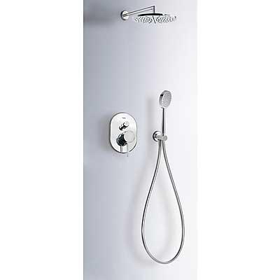 Podomítkový jednopákový sprchový set ALPLUS s uzávěrem a regulací průtoku. · Včetně podomí (20318002) Tres