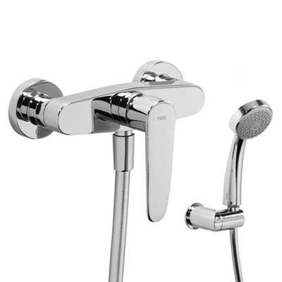TRES Jednopáková sprchová baterie Ruční sprcha s nastavitelným držákem (1.34.617), proti usaz. (20416701)