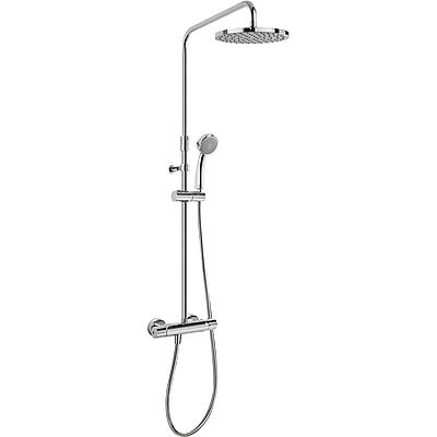 TRES Souprava termostatické sprchové baterie FLAT · Pevná sprcha O 200 mm. s kloubem. · Ruční s (20438703)