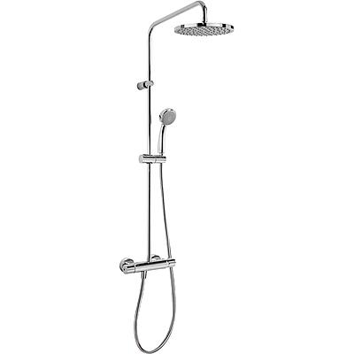 TRES Souprava termostatické sprchové baterie FLAT · Pevná sprcha O 200 mm. s kloubem. · Ruční s (20438701)