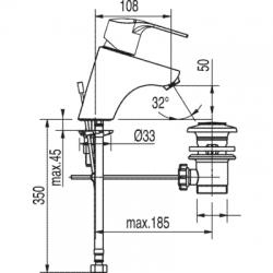 TRES - Jednopáková umyvadlová baterie (169103), fotografie 2/5
