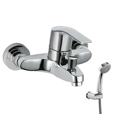 Jednopáková baterie pro vanu-sprchu Ruční sprcha s nastavitelným držákem, proti usaz. vod. (06917002)