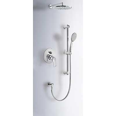 Sprchová sada vestavná s uzávěrem a regulací průtoku. · Včetně podomítkového tělesa · Pevn (169980) Tres