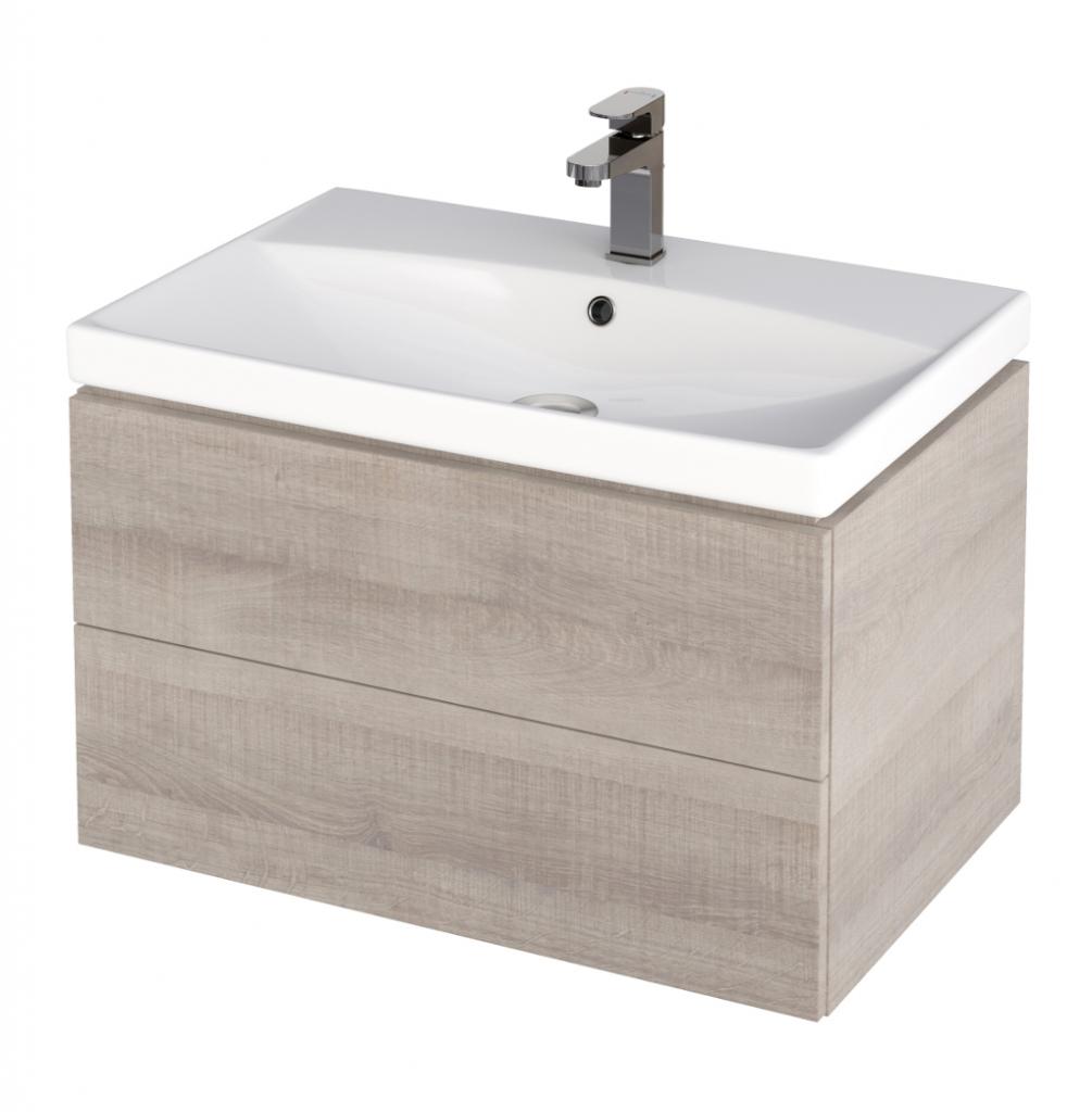 CERSANIT - Skříňka pod umyvadlo CITY/COMO 70, šedý dub (S584-007)