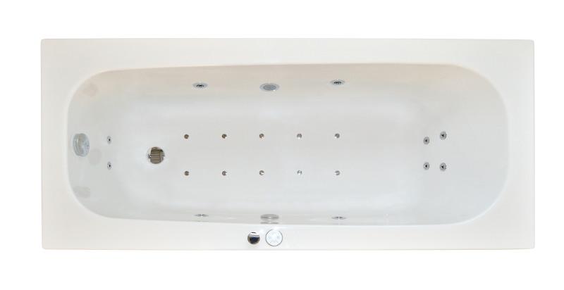 ARTTEC Massage FLAT 160x70 Hydro a air masážní akrylátová vana (PAN01144)