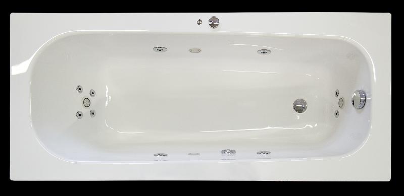 ARTTEC Hydromasážní vana se světelnou terapií 160x70 řada SURF (PAN01228)