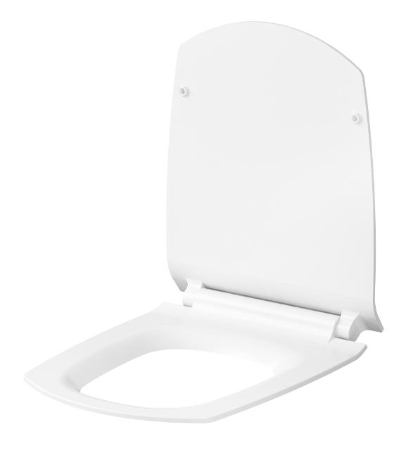 CERSANIT - WC sedátko CARINA SLIM DUROPLAST ANTIB.  SC ECO jedno tlačítko (K98-0135), fotografie 2/3