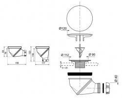 CERSANIT - Sifon pro sprchové vaničky (S904-006), fotografie 2/1