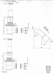 CERSANIT - sifon pro sprchové vaničky 821/50 (S904-002), fotografie 4/2