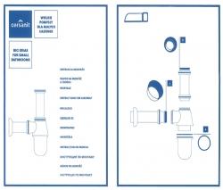 CERSANIT - Sifon LUPI CHROM Lahvový typ (K99-0111), fotografie 2/2