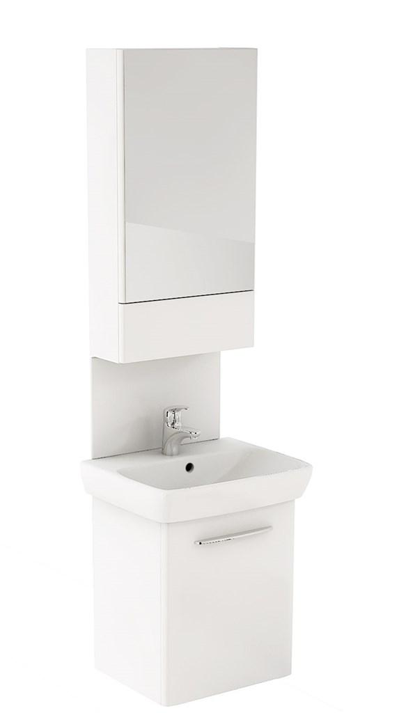 KOLO Nova Pro sestava umyvadlo,zrcadlová skříňka,panel,55 cm,leská bílá (M39015000)