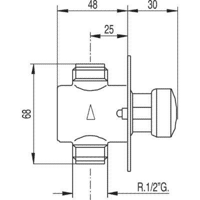 TRES - Baterie pro pisoár podomítkovávnější závit 1/2