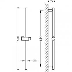 TRES - Posuvná tyč MAX-MINIO20,6mm, délka 624mm (03463702), fotografie 2/2