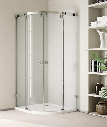 Aquatek INFINITY S7 90 cm CHROM Luxusní sprchová zástěna čiré sklo 8mm (INFINITYS7)