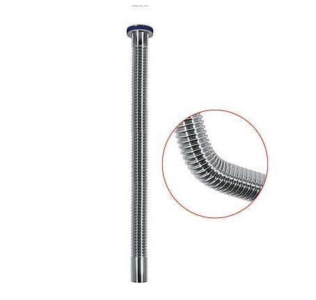 TRES - Pružná vlnitá trubka pro odtok Mosaz, délka 500mm (913463250)