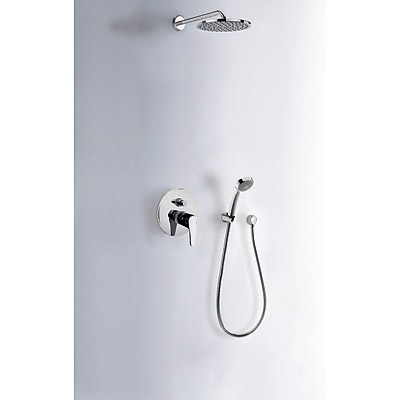 TRES Sprchová sada vestavná · Pevná sprcha O 200 mm. s kloubem (299.632.12). · Kolínko nástěnn (07088002)