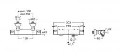 AKCE/ROCA - Sprchová termostatická baterie VICTORIA bez příslušenství, chrom (A5A1318C00), fotografie 2/2