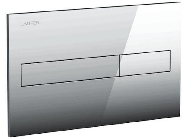 Laufen Splachovací tlačítko AW1, Dual Flush lesklý chrom plast (Splachovací tlačítko AW1, Dual Flush