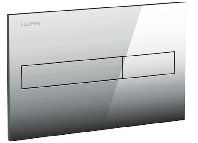 Laufen Splachovací tlačítko AW1, Dual Flush lesklý chrom plast (8956610040001)