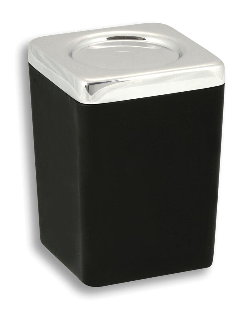 NOVASERVIS - Dóza na koupelovou sůl  Metalia 4 černá-chrom (6404,5)